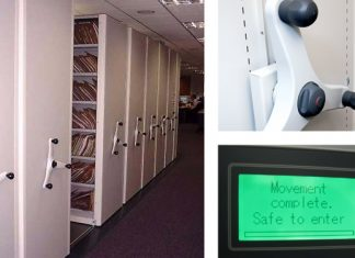 Secure Medical Record Mobile Shelving